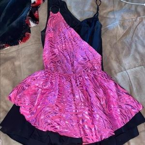 Other - Pink/Black zebra two piece dance outfit